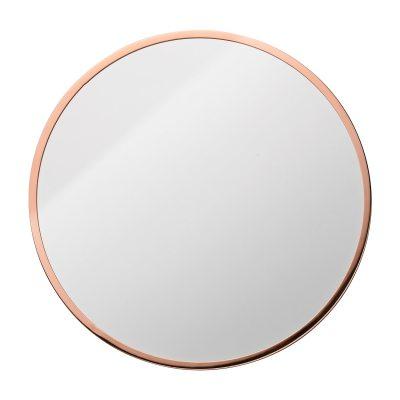 Circle väggspegel koppar