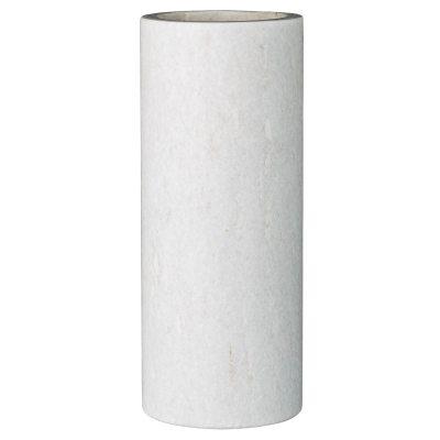 Marble vas S vit marmor