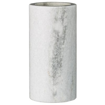 Marble vas M vit marmor