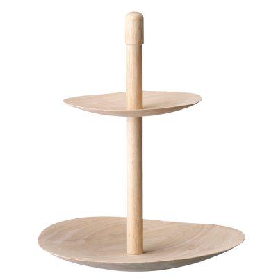 Etagere 2-våningsfat trä