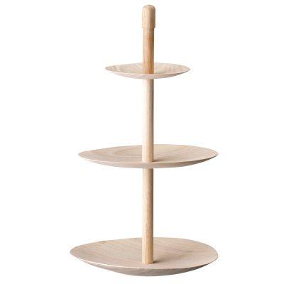 Etagere 3-våningsfat trä