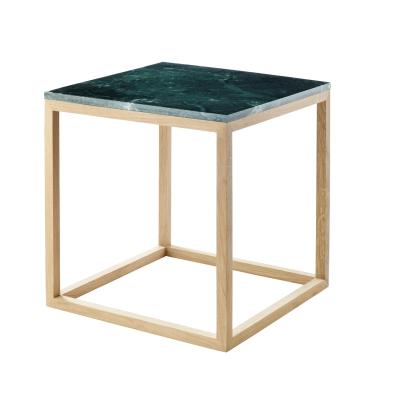 Bild av The Cube sidobord S, grön marmor/ek