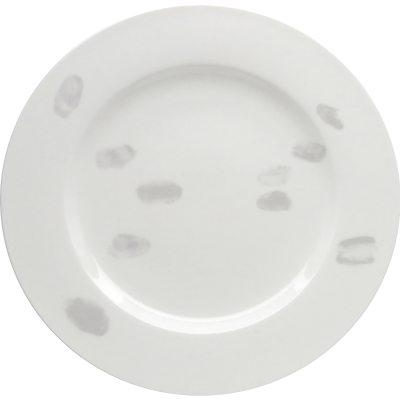 Fingerprint assiett light grey