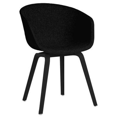 About a Chair 22 FU, svart/svarta ben