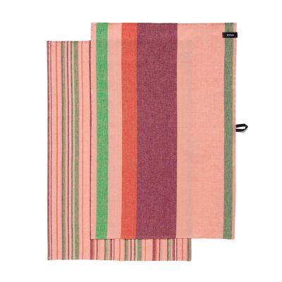 Origo kökshandduk 2-pack rosa