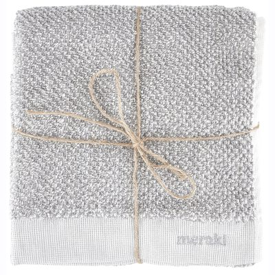 Meraki badhandduk 70x140, vit/grå
