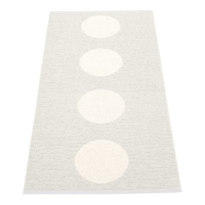 Vera matta 70×90 ljusgrå/vit