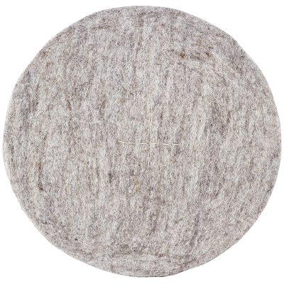 Round stolsdyna ljusgrå