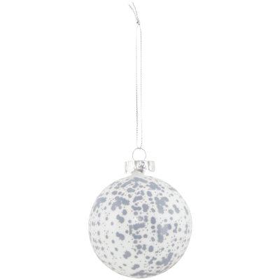 Spot ornament, vit/silver