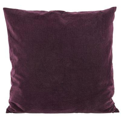 Bild av Velv kuddfodral 50x 50, aubergine