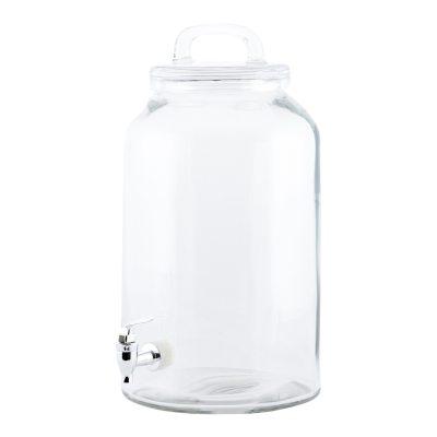 Icecold lemonadbehållare glas