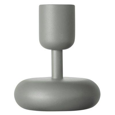 Nappula ljusstake 10,7 cm, grå