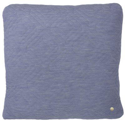 Quilt kudde 45x45, ljusblå