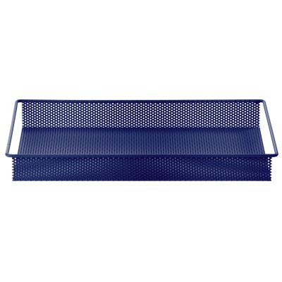 Metal Tray bricka S blå