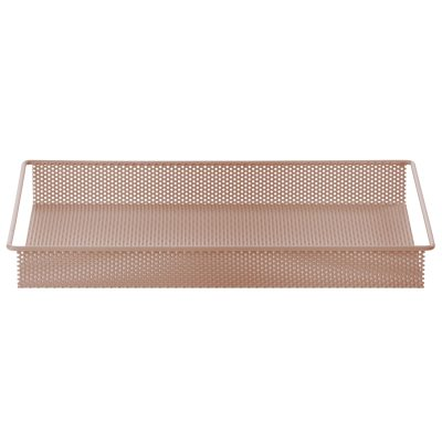Metal Tray bricka S rosa