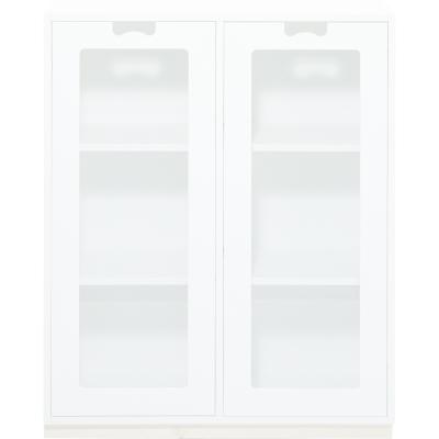 Snö Skåp E d30cm glasdörrar vit sockel vit
