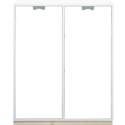 Snö Skåp E d42cm täckta dörrar vit sockel björk