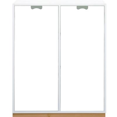 Snö Skåp E d42cm täckta dörrar vit sockel ek
