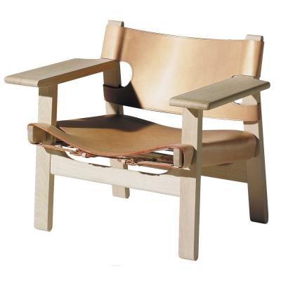 Stol 2226 'Den Spanska Stolen' obehandlad ek läder natur