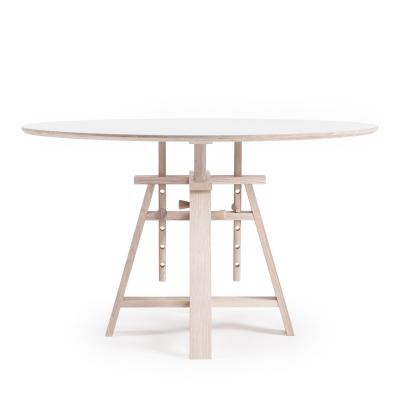 Astructure bord ø120 vit