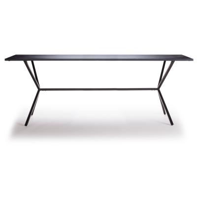 Loft matbord 200×92 cm svart
