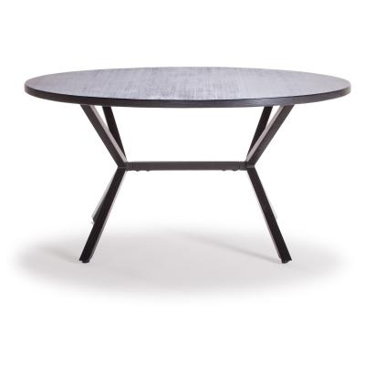 Loft soffbord ø90 cm svart