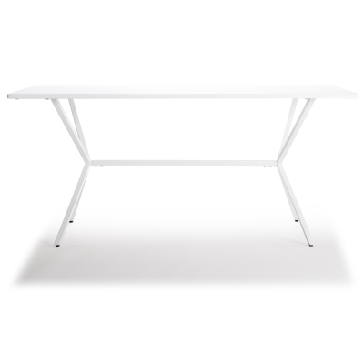 Loft matbord 160×80 vit