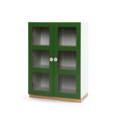 Reader 6 skåp grön/vit/ek