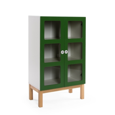 Reader 6 skåp grön/vit/ekben