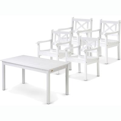 Skagen grupp – 4 stolar + 1 bord