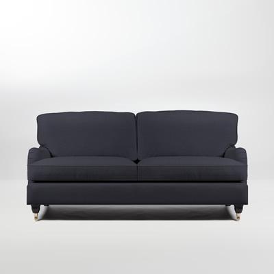 Mayfair Howard 2,5-sits soffa, grsvart