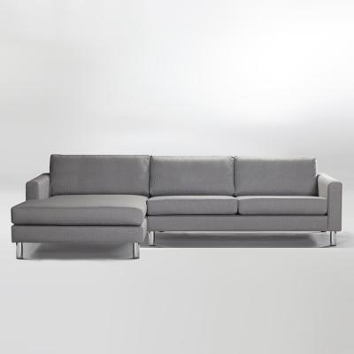 Ving 2,5-sits med divan vänster askgrå