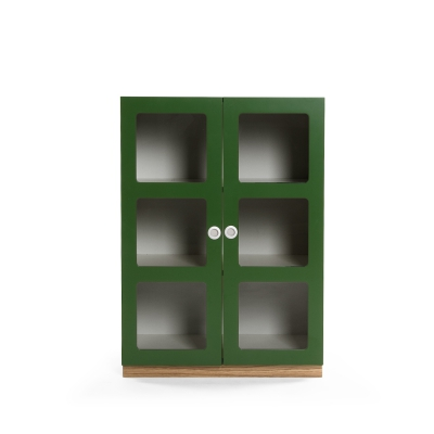 Reader 6 skåp grön/grön/ek