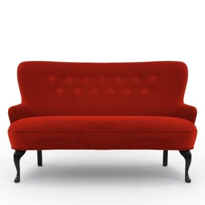 April soffa Varese, röd