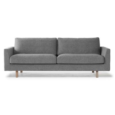 Stay 3-sits soffa, svart/vit