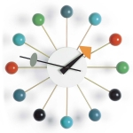 Ball Clock v�ggklocka, multif�rgad