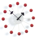 Ball Clock v�ggklocka, r�d