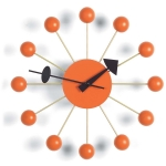 Ball Clock v�ggklocka, orange