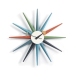 Sunburst Clock v�ggklocka, multicolour