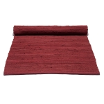 Cotton matta med kant, rosewood red