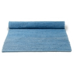 Cotton matta med kant, eternity blue