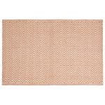 Herring Bone matta 80x50, orange/khaki