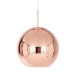 Copper Round pendel, large