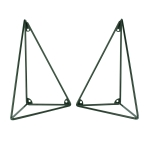 Pythagoras hyllkonsoll 2-pack, racing green