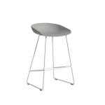 About a Stool 38 barstol h65, betong/vit