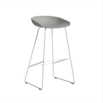 About a Stool 38 barstol h75, betong/vit