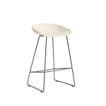 About a Stool 38 barstol h65, cream white/rostfritt