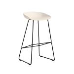 About a Stool 38 barstol h75, cream white/svart