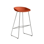 About a Stool 38 barstol h75, orange/rostfritt