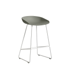 About a Stool 38 barstol h65, dusty green/vit